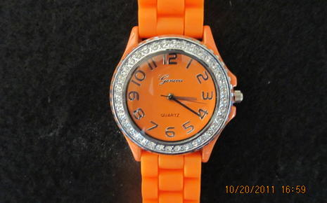 Orange Wrist Watch - Girls $