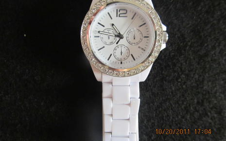 White Wrist Watch - Girls $